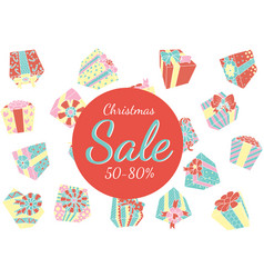 falling gift boxes christmas promo vector image