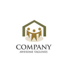 family house logo concept vector image