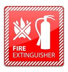 Fire Extinguisher Sign vector image