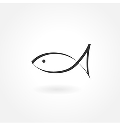 Fish symbol icon simple vector
