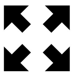 four arrows pointing to different directions from vector image