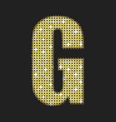 gold glitter or sequins letter - g vector image