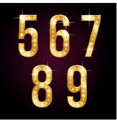 golden shining numbers vector image