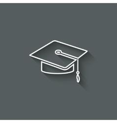 Graduation cap design element vector image vector image