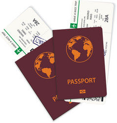 green airline passenger and boarding pass tickets vector image