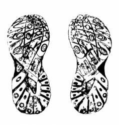 grunge shoe print vector image