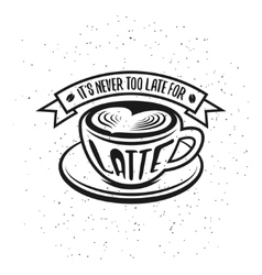Hand drawn typography coffee poster It is never vector