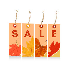 Happy autumn with tags for seller vector