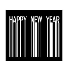 Happy new year on barcode vector image