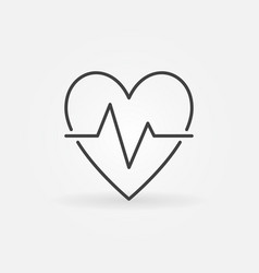 Heart beat outline icon - heartbeat pulse vector