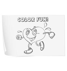 Heart Coloring worksheet vector