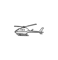 helicopter hand drawn outline doodle icon vector image