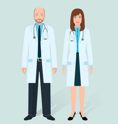 Hospital staff concept couple of old man and vector