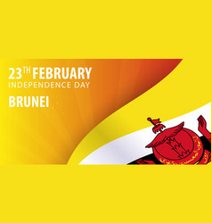 Independence day of brunei flag and patriotic vector