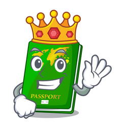 King green passport on the mascot table vector