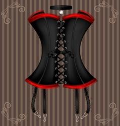 Ladys black corset vector
