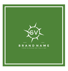 Letter gv compass logo design vector