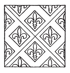 medieval tile pattern is a oldest process of vector image vector image