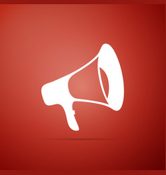megaphone icon isolated on red background vector image