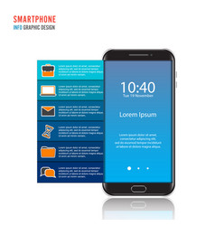 Mobile phone for infographic template for vector