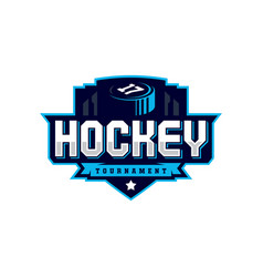 Modern professional hockey logo for sport team vector