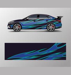 Modern racing car wrap strip for racing sport car vector