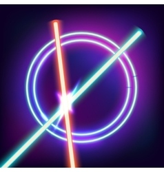 Neon swords Flash contact vector image