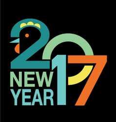 New Year Background 2017 vector
