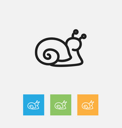 Of zoo symbol on snail outline vector