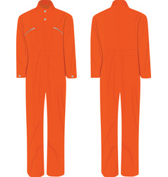 Orange working uniform vector