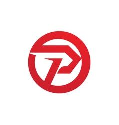 P logo template vector