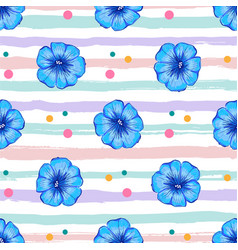 petunia flower seamless pattern petunia flowers vector image