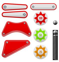 pinball set vector image