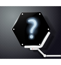 Question mark on futuristic screen vector