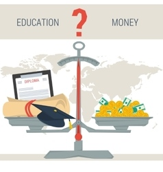 scales - education or money vector image