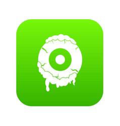 Scary eyeball icon digital green vector