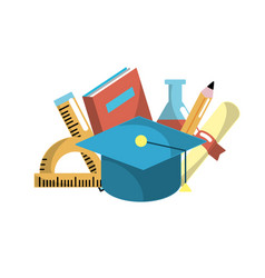 School tool elements to education study vector
