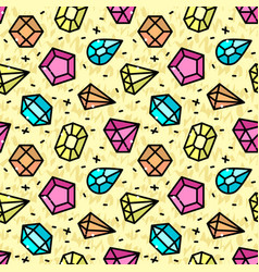 Seamless pattern with jewels vector