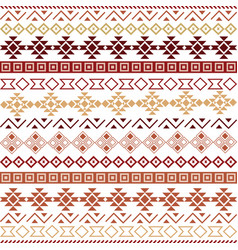 seamless tribal pattern background vector image