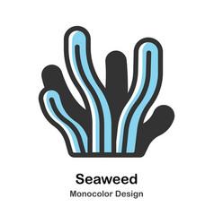 Seaweed monocolor vector
