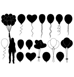 Set of different balloons vector image