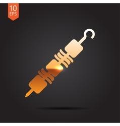 shashlik icon vector image