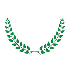 sign laurel wreath green 303 vector image