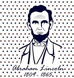 Silhouette Abraham Lincoln vector image