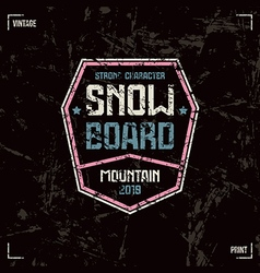 Snowboard badge vector image