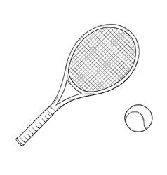Tennis racket vector