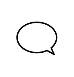 Thin line chat speech bubble chatting icon vector