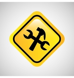 Tool repair support sign icon graphic vector