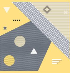 trendy memphis retro style background vector image