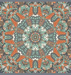 vintage ethnic festive luxury floral vector image